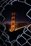 San Francisco 's nachts - Golden gate bridge stock fotografie