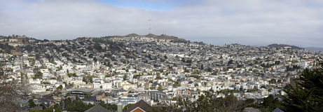 San Francisco`s Noe Valley. With fog rolling in Royalty Free Stock Photography