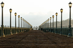 San Francisco`s Pier 7 in the early morning Royalty Free Stock Photo