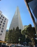 The Transamerica Pyramid, San Francisco, 4. When San Francisco`s Transamerica Pyramid opened in 1972, it was the tallest building west of Chicago, eighth Royalty Free Stock Image