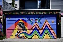 San Francisco`s world recognized Balmy Alley murals, 15. San Francisco`s Mission District has the highest concentration of murals of any neighborhood in the royalty free stock photography