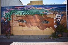 San Francisco`s world recognized Balmy Alley murals, 17. San Francisco`s Mission District has the highest concentration of murals of any neighborhood in the stock photos