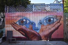 San Francisco`s world recognized Balmy Alley murals, 31. San Francisco`s Mission District has the highest concentration of murals of any neighborhood in the stock photo