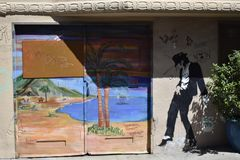 San Francisco`s world recognized Balmy Alley murals, 4. San Francisco`s Mission District has the highest concentration of murals of any neighborhood in the city royalty free stock photography