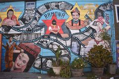 San Francisco`s world recognized Balmy Alley murals, 6. San Francisco`s Mission District has the highest concentration of murals of any neighborhood in the city stock photos