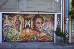 San Francisco`s world recognized Balmy Alley murals, 21. San Francisco`s Mission District has the highest concentration of murals of any neighborhood in the royalty free stock photos