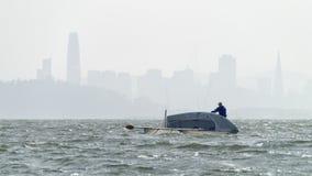 San Francisco Sailing Capsize fotografia de stock royalty free