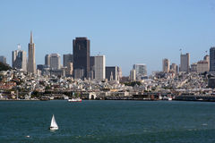 San Francisco seen from the Ocean Royalty Free Stock Photos