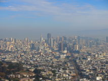 San Francisco seen from Twin Peaks hill Royalty Free Stock Photos