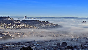 San Francisco shrouded by Fog Stock Image
