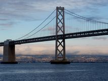 San Francisco side of Bay Bridge royalty free stock photo
