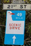 San Francisco sign to scenic drive Stock Images
