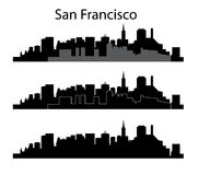 San Francisco silhouette Stock Photos