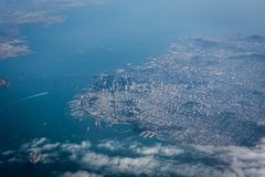 San Francisco from the sky royalty free stock photography