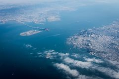 San Francisco from the sky stock images