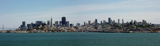 San Francisco skyline. Taken from alcatraz island Royalty Free Stock Photos