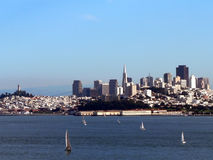 San Francisco Skyline. As seen from the Golden Gate Bridge Royalty Free Stock Photography