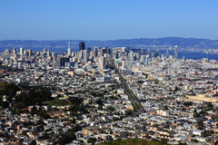 San Francisco Skyline. San Francisco is the financial, cultural, and transportation center of the San Francisco Bay Area royalty free stock photography