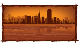 San Francisco skyline. With reflection in water Royalty Free Stock Photography