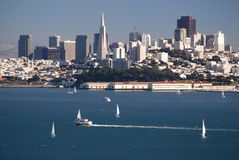 San Francisco Skyline. A view of San Francisco's skyline from Marin County Stock Images