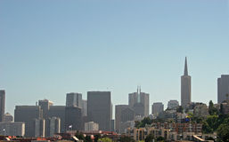 San Francisco Skyline. Skyline of San Francisco through haze Royalty Free Stock Images