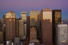 San Francisco Skyline. At dusk Royalty Free Stock Photo