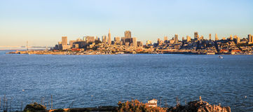 San Francisco Skyline from Alcatraz Stock Photography