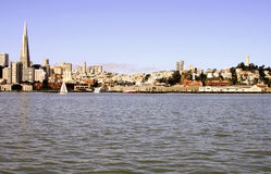 San Francisco Skyline from the Bay Royalty Free Stock Photography