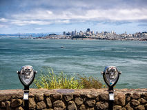 San Francisco skyline with Bay bridge Royalty Free Stock Photos