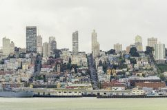 San Francisco Skyline, Californië Royalty-vrije Stock Afbeelding