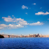 San Francisco skyline in California from Treasure Island Royalty Free Stock Photo
