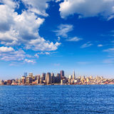San Francisco skyline in California from Treasure Island Royalty Free Stock Images
