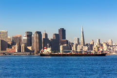 San Francisco skyline in California from Treasure Island Stock Photography