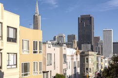 San Francisco skyline and Chinatown neighborhood. Royalty Free Stock Images