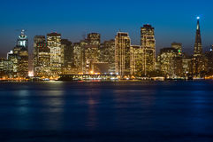 San Francisco skyline at Christmas Stock Images