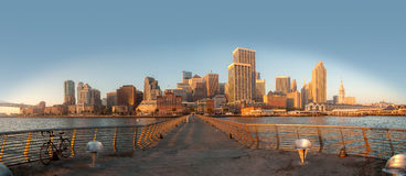 San Francisco Skyline. At during the dawn AM hours Royalty Free Stock Images
