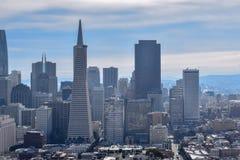 San Francisco Skyline - distrito financeiro imagem de stock royalty free