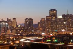 San Francisco Skyline at dusk Royalty Free Stock Images