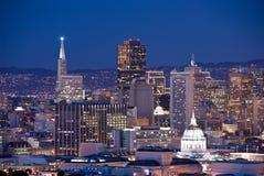 San Francisco Skyline at dusk royalty free stock images