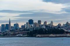 The San Francisco Skyline at Dusk Stock Photo