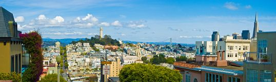 San francisco skyline Stock Images