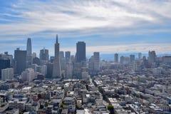 San Francisco Skyline - finansiellt område royaltyfria foton