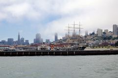 San Francisco Skyline in the Fog Royalty Free Stock Photos