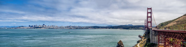San Francisco skyline with Golden Gate Bridge Royalty Free Stock Image