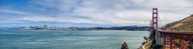 San Francisco skyline with Golden Gate Bridge Royalty Free Stock Image