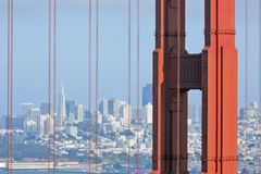 San Francisco skyline through Golden Gate Royalty Free Stock Photography
