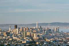 San Francisco Skyline, Kalifornien stockbilder