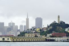 San Francisco Skyline, Kalifornien Lizenzfreies Stockbild