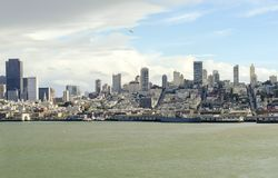 San Francisco Skyline, Kalifornien Lizenzfreie Stockfotos