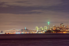 San Francisco Skyline at Night Royalty Free Stock Image